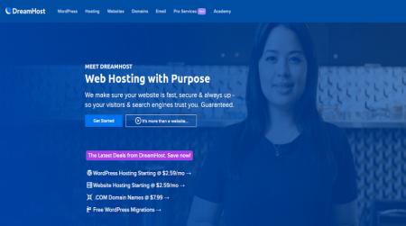 dreamhost vps hosting homepage