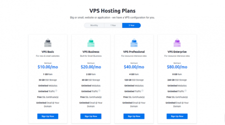 dreamhost vps hosting plans start at $10 /month