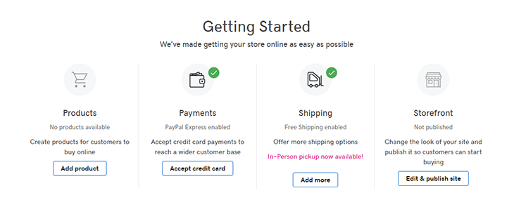 GoDaddy Review Onlinestore Setup