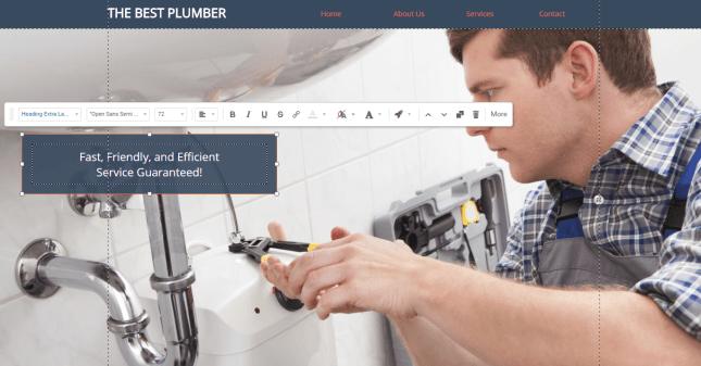 sitebuilder template example