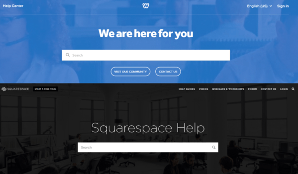 Weebly and Squarespace Help Centers