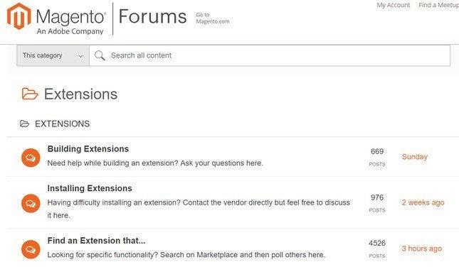 magento help forum