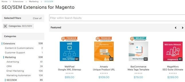 magento seo extensions