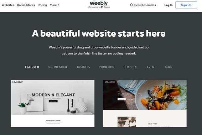 start a weebly website