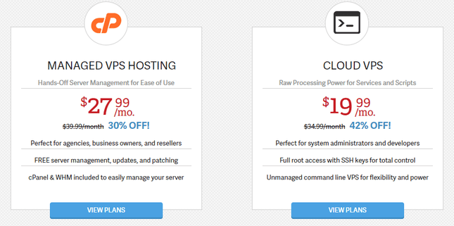 InMotion VPS Hosting Pricing