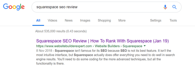 SERPS Meta Title Example
