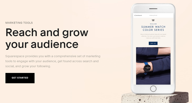 squarespace marketing tools