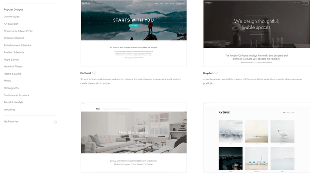 squarespace best template designs