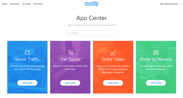 weebly app center