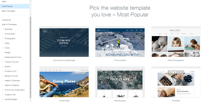 wix vs weebly vs squarespace wix templates