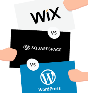 wix vs squarespace vs wordpress featured image