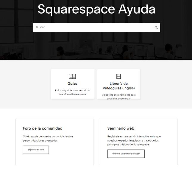 Evaluacion de Squarespace - Ayuda