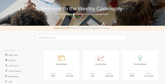 Evaluacion de Weebly - Foro de la Comunidad