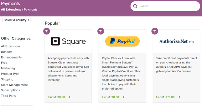 woocommerce payment gateway options