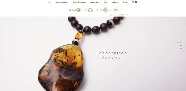 wix ecommerce jewelry store lamour de guylene