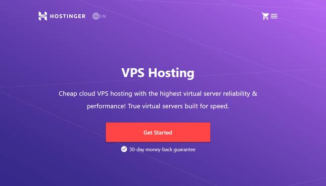 hostinger vps page