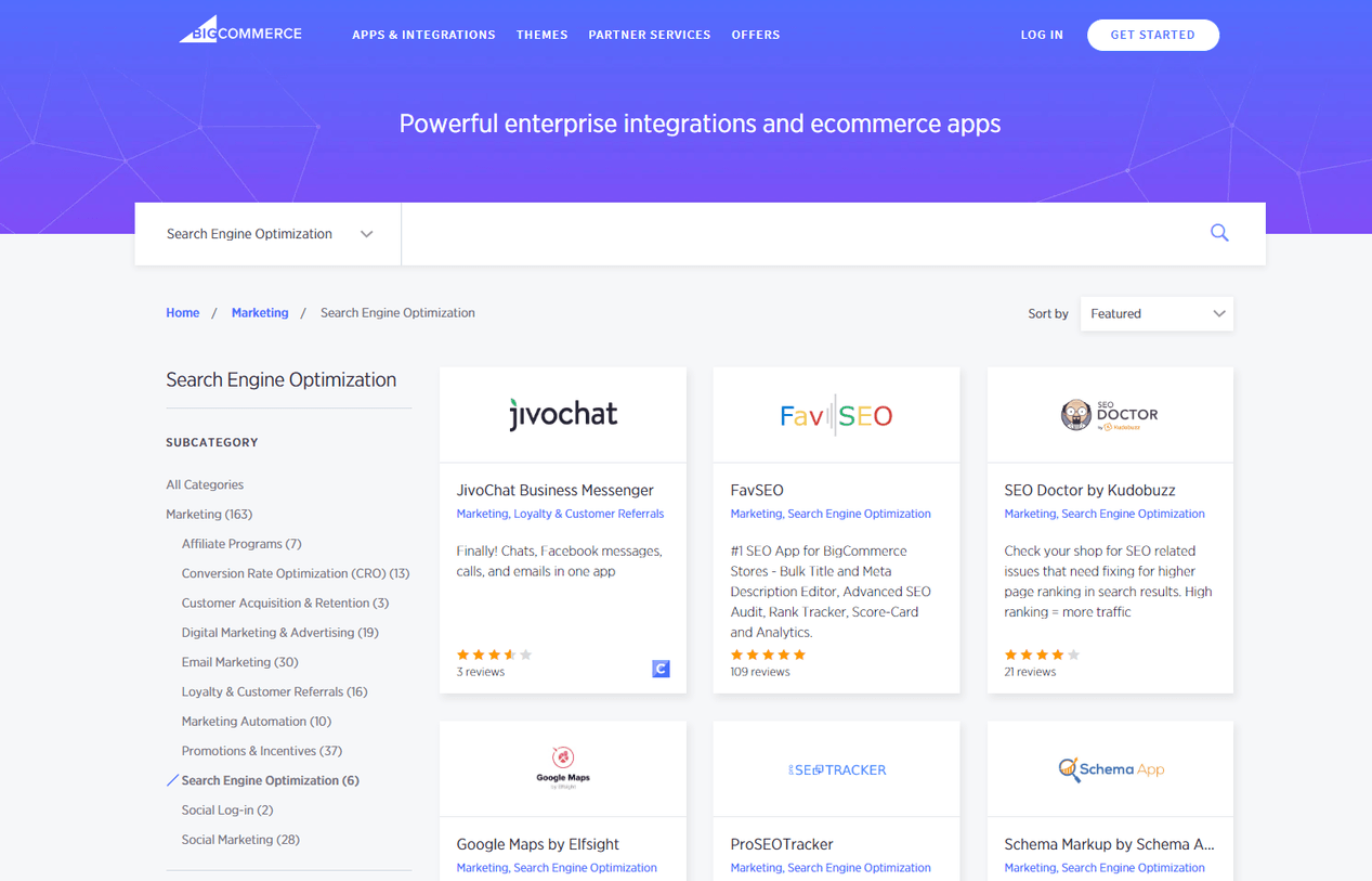 BigCommerce SEO apps