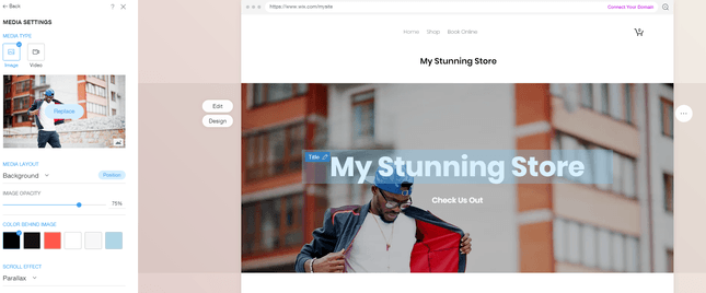 customize wix store