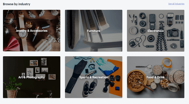 shopify industry themes