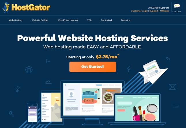 GoDaddy alternatives HostGator