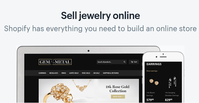 shopify ecommerce jewelry features