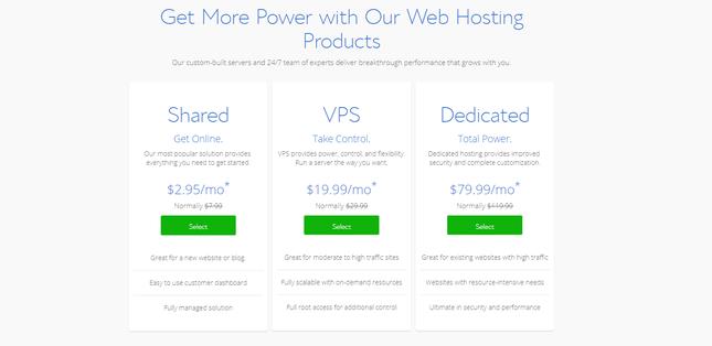 comment developper un site web bluehost tarification