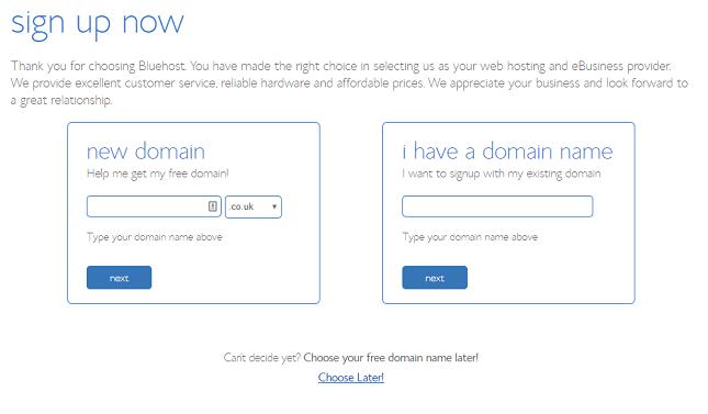 comment developper un site web enregistrement de domaine bluehost