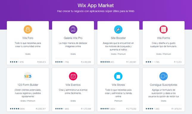evaluacion de wix mercado de aplicaciones