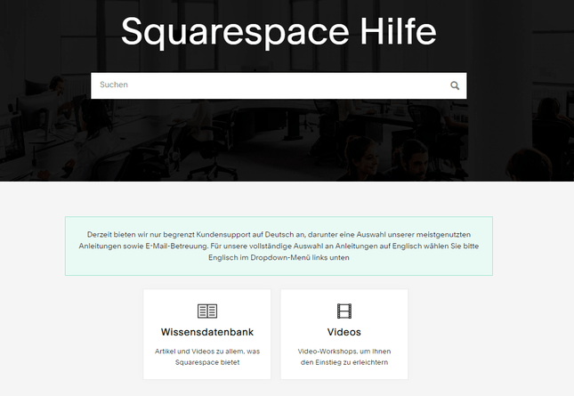 Squarespace-Kundensupport