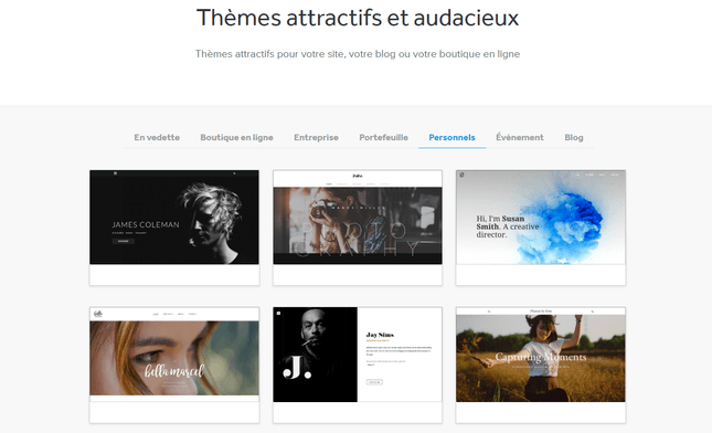 weebly avis sur templates