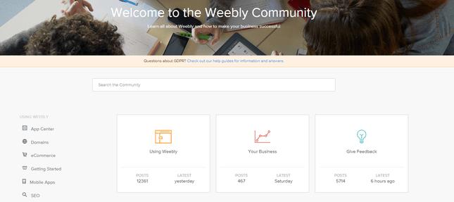 Weebly-Community-Forum