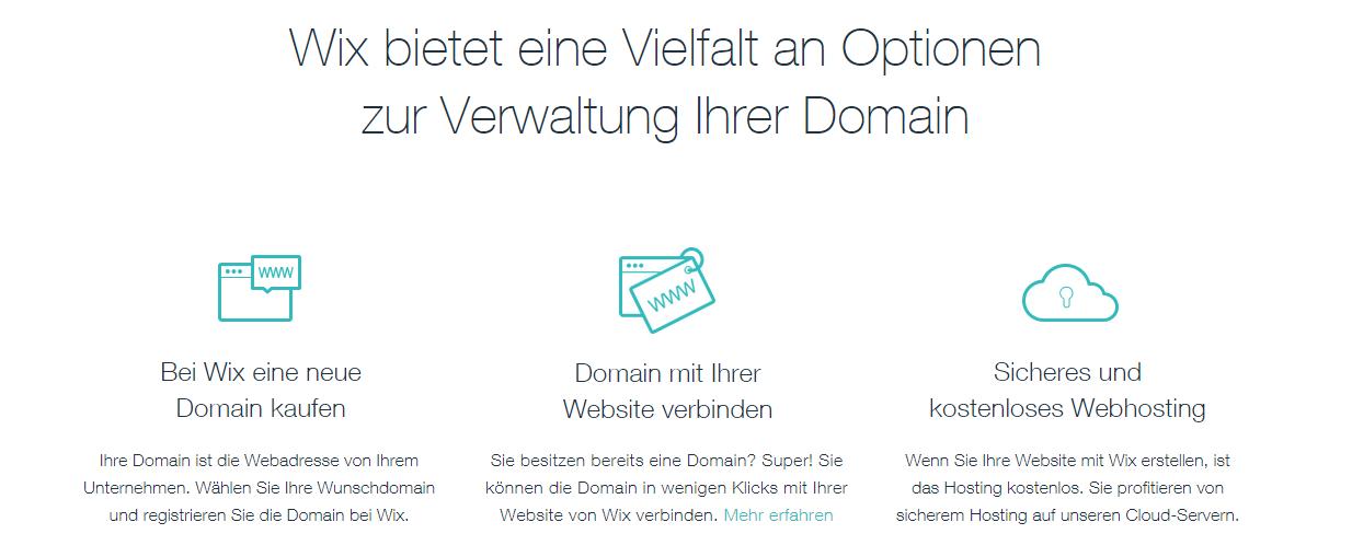 wix preisbewertung domainname