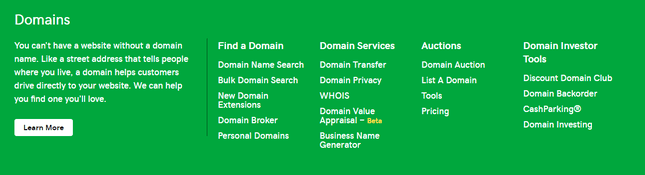 godaddy domain services