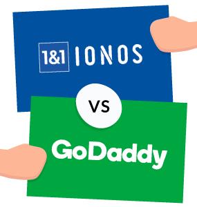 1&1 ionos vs godaddy featured image