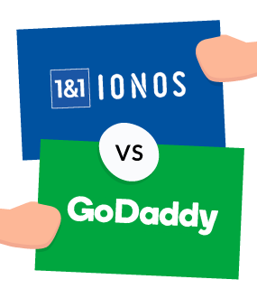 1&1 ionos vs godaddy featured image