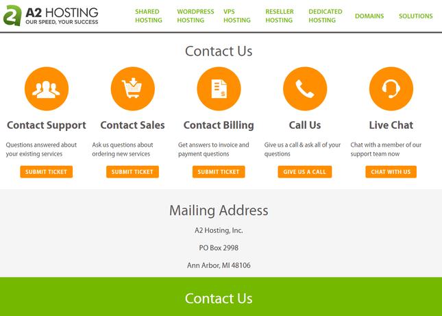 a2 hosting cpanel provider customer service