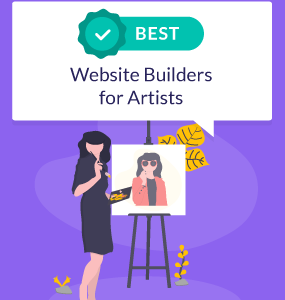best website builders for artists featured image