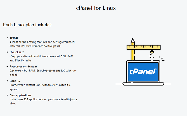 godaddy cpanel shared linux hosting
