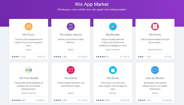wix avis sur app market