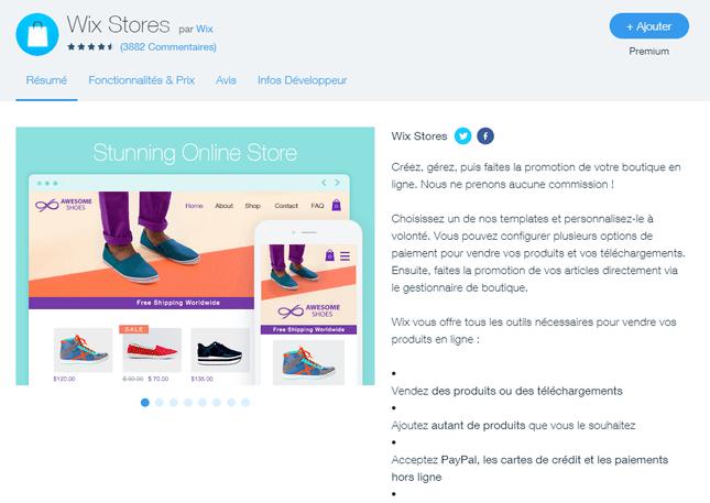 wix avis sur wix stores