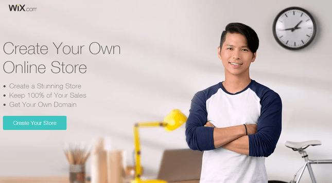 wix ecommerce homepage