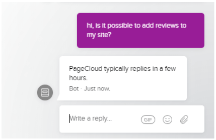 PageCloud chat box
