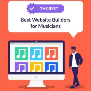 best website builders for musicians featured image