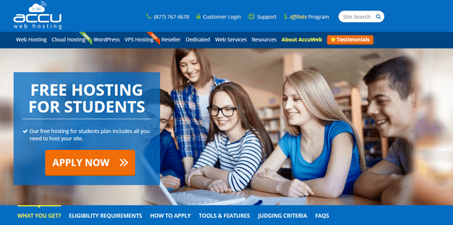 accuweb free student hosting