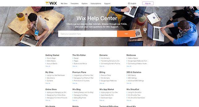 Wix help