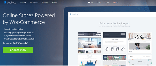 bluehost best wordpress ecommerce hosting