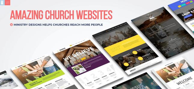 ministry designs church website builder
