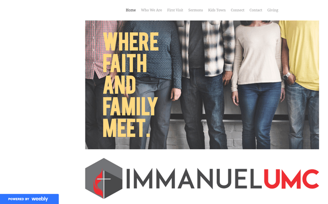 weebly church website example