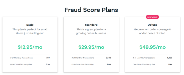 volusion pricing fraud protection plans