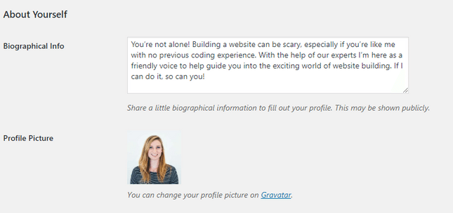 gravatar settings wordpress tips